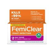 FemiClear Yeast Infection Treatment, 2-Day Dose