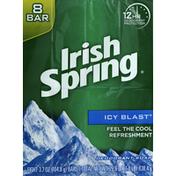 Irish Spring Deodorant Soap, Icy Blast, Bath Size