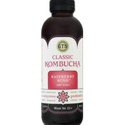 GTS Living Foods Kombucha, Classic, Raspberry Rush