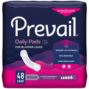 Prevail Incontinence Bladder Control Pads for Women, Maximum Absorbency, Regular Length