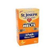 St. Joseph 80 Mg Low Dose Aspirin Rapid Dissolving Melts Pain Reliever, Orange