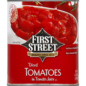 First Street Tomatoes, in Tomato Juice, Diced