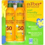 Alba Botanica Coconut Broad Spectrum SPF 50 Hawaiian Sunscreen Spray