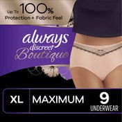 Always Discreet Discreet Boutique, Incontinence Underwear for Women, Maximum Protection