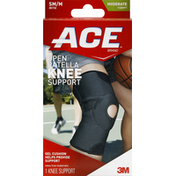 Ace Bakery Knee Support, Open Patella, SM/M, Moderate Support