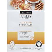Freeman Sheet Mask, Hydrating, Manuka Honey + Collagen