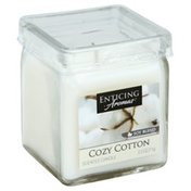 Enticing Aromas Scented Candle, Cozy Cotton, Soy Blend