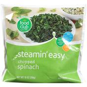 Food Club Steamin' Easy, Chopped Spinach