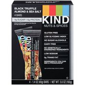 Kind Fruit & Nut Nuts & Spices/Black Truffle Almond & Sea Salt Nutrition Bar