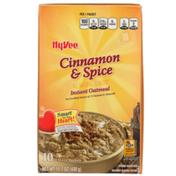 Hy-Vee Cinnamon & Spice Instant Oatmeal