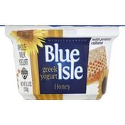 Blue Isle Yogurt, Greek, Whole Milk, Honey