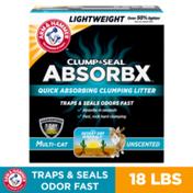 Arm & Hammer Clump & Seal Absorbx Clumping Cat Litter, Multicat Unscented