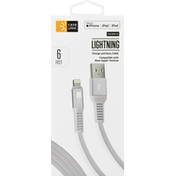 Case Logic Charge and Sync Cable, Lightning, Fabric, 6 Feet
