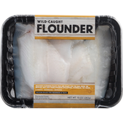 Go Wild Flounder Fillets, Skinless, Boneless, Wild Caught