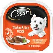 CESAR Chicken & Liver Recipe Classic Loaf in Sauce Canine Cuisine