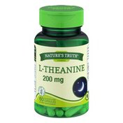Nature's Truth Vitamins L Theanine Dietary Supplement Capsules