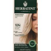 Herbatint Haircolor Gel, Permanent, Platinum Blonde 10N