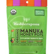 Wedderspoon Manuka Honey Pops, Organic, 3 Flavor Variety Pack