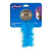 Companion Compressed Catnip Ball With Feathers Cat Toy