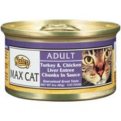 Nutro MAX CAT Adult Turkey & Chicken Liver Entree Chunks in Sauce Cat Food