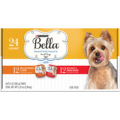 Purina Small Breed Pate Wet Dog Food Variety Pack, Grilled Chicken & With Beef