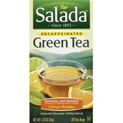 Salada Green Tea, Original Antioxidant, Citrus Flavored, Decaffeinated, Bags