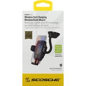 Scosche Dash Mount, Wireless, Fast Charging, Window