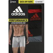 adidas Underwear, Performance, Small, 3 Pack