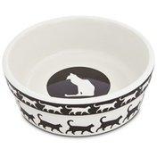 "Harmony Catwalk Ceramic Cat Bowl 1.75"" H X 5"" Diameter"