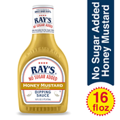 Ray's Dipping Sauce, No Sugar Added, Honey Mustard Flavored
