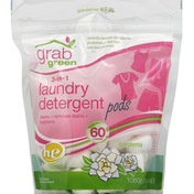 Grab Green Laundry Detergent, 3-in-1, Pods, Gardenia