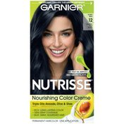 Nutrisse® Permanent Hair Color, Poppy Seed Natural Blue Black 12
