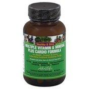 Aloe Life Dietary Supplement, Multiple Vitamin & Mineral +Cardio Formula, Tablets, Bottle