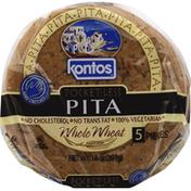 Kontos Pita, Pocket-Less, Whole Wheat
