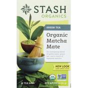 Stash Tea Green Tea, Organic, Matcha Mate, Bags