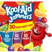 Kool-Aid Jammers Flavored Drink Variety Pack Tropical Punch, Grape & Cherry
