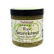 Cultured Lemon Garlic Dill Sauerkraut