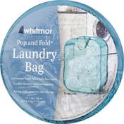 Whitmor Laundry Bag, Pop and Fold, Paloma Gray