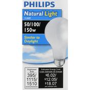 Philips Light Bulb, 3-Way, 50/100/150 Watts