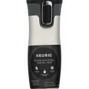 Keurig Dr Pepper Travel Mug, Stainless Steel, 14 Ounce