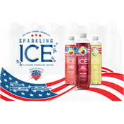 Sparkling Ice Sparkling Water, 3 Flavors, 18 Pack