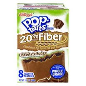 Pop-Tarts Toaster Pastries, 20% Fiber, Frosted Chocolate Fudge