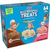 Kellogg's Rice Krispies Treats Mini-Squares Crispy Marshmallow Squares, Lunch Box Snacks, Variety Pack