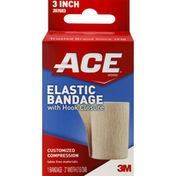 Ace Elastic Bandage, with Hook Closure, 3 Inch Width