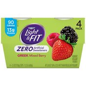 Dannon Greek Mixed Berry Nonfat Yogurt