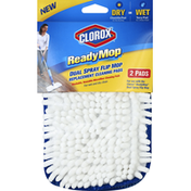 Clorox Replacement Cleaning Pads, Dual Spray Flip Mop