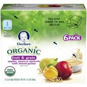 Gerber Organic 2 Nd Foods Fruit & Grain Apples Pears & Apricots with Mixed Grains Baby Food