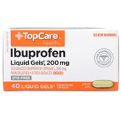 TopCare Solubilized Ibuprofen 200 Mg Pain Reliever-Fever Reducer (Nsaid) Liquid Gels