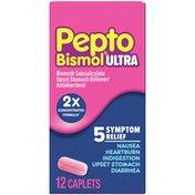 Pepto-Bismol Ultra Caplets For Nausea, Heartburn, Indigestion, Upset Stomach