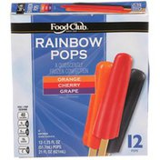 Food Club Rainbow Pops Quiescently Frozen Confection